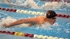 TIMES PHOTO: MATT SINGLEDECKER - Beaverton junior Van Mathias won the 100 butterfly and the 100 backstroke at the Class 6A state championship meet on Saturday.