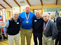 SUBMITTED PHOTO  - Pictured from left are: David Davies, Frank Bridwell, Malcolm Mathes and Lynn Brokaw.