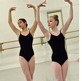 REVIEW PHOTO: VERN UYETAKE - Elliana Kirk (left) and Kyra Yannotta are two of the youngest members of The Portland Ballet's Career Track program.