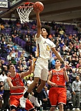 TRIBUNE PHOTO: JAIME VALDEZ - Jefferson High guard Geno West scoops for a layup Friday against Beaverton.