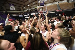 TIMES PHOTO: JAIME VALDEZ - The Southridge girls basketball team beat Oregon City in the Class 6A state championship for its first state crown since 2010.