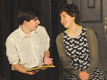SETH GORDON - Homeschool senior Nathan Beals and C.S. Lewis Academy senior Elianna Swan perform a scene during CSLA's One Act Festival March 2 at the school's Performing Arts Center.