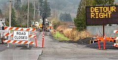GARY ALLEN - The county has closed a segment of Chehalem Drive between West Foothills Drive and North Valley Road through April 14 so that water and sewer lines can be installed for a new subdivision.