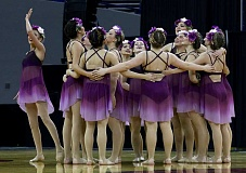 SPOKESMAN PHOTO: BRIAN MONIHAN  - The Wilsonville Pride dance team placed sixth in the 5A division at state.