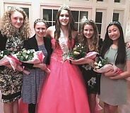 SUBMITTED PHOTO - The 2017 West Linn Old Time Fair Court: (from left) Princesses Aislinn McCarthy and Grace Heaton, 2016 Queen Allison Ingle, and Princesses Lilly Curd and Ashley Chon.