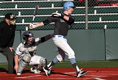 REVIEW PHOTO: MILES VANCE - Lakeridge senior first baseman/pitcher Tommy Andrew and the Pacers are aiming for a return to the Class 6A state playoffs this year.