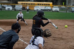 NEWS-TIMES PHOTO: WADE EVANSON - Forest Grove's Katie Ellington takes a swing during the Vikings' game at Aloha March 23.