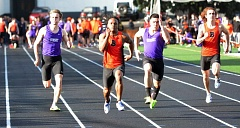 TIMES PHOTO: MATT SINGLEDECKER - Beaverton senior Anthony Albright and Sunset junior Carter Webb (right) will be two of the best 100-meter sprinters in the Metro League this spring.