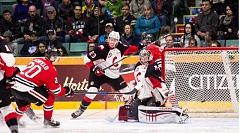 PHOTO COURTESY OF BRETT CULLEN - Joachim Blichfeld scored two goals for the Winterhawks in Saturday's win at Prince George