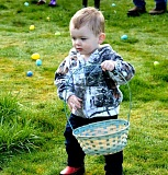 PIONEER FILE PHOTO - An 18-month-old Colton boy heads out on his first Easter Egg Hunt