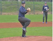 HERALD PHOTO: COREY BUCHANAN - Canby starter Sean Wiese gave up one earned run in six innings pitched against Lakeridge.