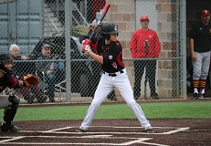 REVIEW/NEWS PHOTO: JIM BESEDA - Clackamas' Bubba Jaha had a two-run double in a three-run fourth inning for the Cavaliers Wednesday.