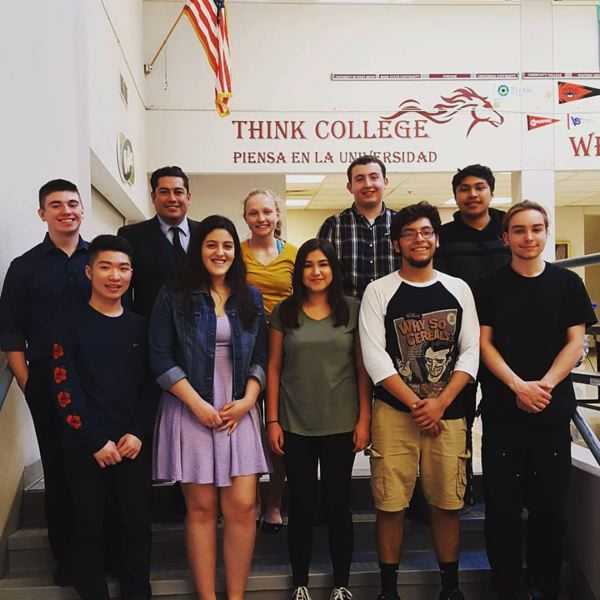 SUBMITTED PHOTOS - Milwaukie High School scholarship recipients include Todd Sjullie (from left, top), Alex Gonzalez (scholar advisor), Shelby Jarvis, Jordan Corder and Andres Carrasco-Paz. In the front row are Tan Nguyen, Olga Mendez, Brandy Aguilar, Jesus Conrique and Maxwell Bernardi. Not pictured: Julia Clevinger.